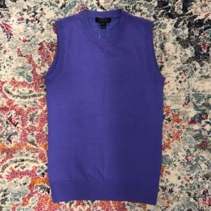 J.Crew purple sweater shell